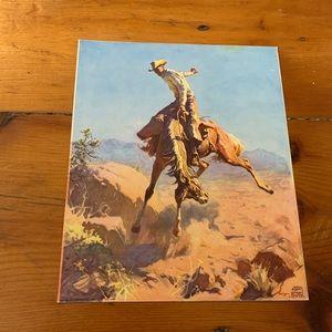 Set of 3 Vintage Cowboy Prints - Vintage Western